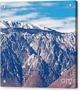 Panamint Mountain Range In Death Valley  Acrylic Print