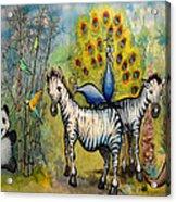 Panda Peacock Kangaroo Zebra Acrylic Print