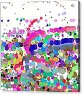 Pandemonium Of Colours Acrylic Print