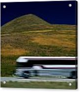 Panned View Of A Bus On Interstate 15 Acrylic Print