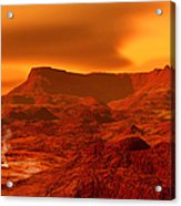 Panorama Of A Landscape On Venus At 700 Acrylic Print