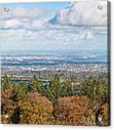 Panorama Of Dublin City And The Dublin Bay Acrylic Print