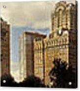 Panorama Of Manhattan Downtown  Acrylic Print