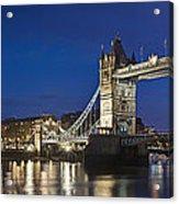 Panorama Of Tower Bridge And Tower Of London Acrylic Print