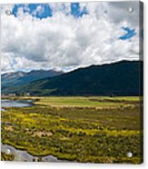 Panorama Of Waiau River Wetland South New Zealand Acrylic Print