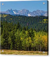 Panorama Scenic Autumn View Of The Colorado Indian Peaks Acrylic Print