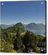 Panorama View Over Mountain Acrylic Print