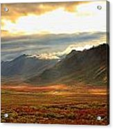 Panoramic Image Of Late Afternoon Acrylic Print