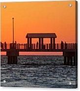 Panoramic Pier Acrylic Print