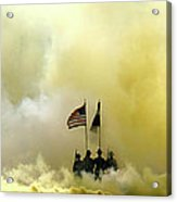 Panoramic Us Army Graduation Acrylic Print by Michael Waters