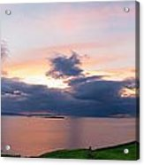 Panoramic View From Dunluce Castle Acrylic Print