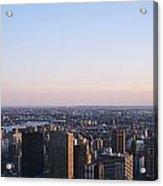 Panoramic View Of Manhattan Acrylic Print