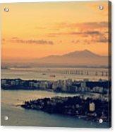 Panoramic View Of Niteroi Acrylic Print