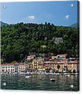 Panoramic View Of Toscolano-maderno Acrylic Print
