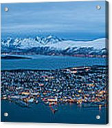 Panoramic View Of Tromso In Norway  Acrylic Print