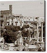 Panoramic View Via Sacra Rome Acrylic Print