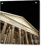 Pantheon At Night. Rome Acrylic Print