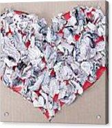 Paper Dump Heart Concept Acrylic Print