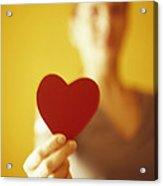 Paper Heart Acrylic Print by Cristina Pedrazzini
