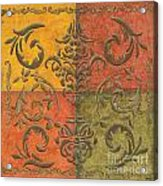 Paprika Scroll Acrylic Print