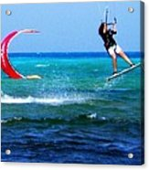 Para Surfing In Cozumel Mexico Acrylic Print