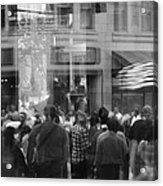 Parade Crowd Reflected Acrylic Print