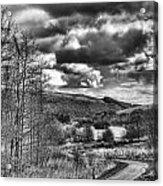 Parc Cwm Darran Mono Acrylic Print