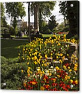 Parc Les Invalides In Spring Acrylic Print