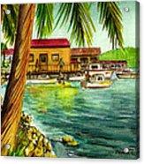 Parguera Fishing Village Puerto Rico Acrylic Print
