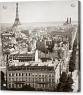Paris: Aerial View, 1900 Acrylic Print