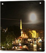 Paris At Night Acrylic Print