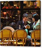 Paris At Night In The Cafe Acrylic Print