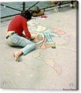 Paris Chalk Art 1964 Acrylic Print