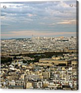Paris City View Acrylic Print