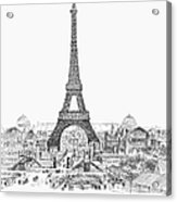 Paris Exhibition, 1889 Acrylic Print