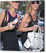 Paris Hilton, Nikki Hilton Carrying Acrylic Print