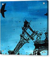 Paris Is Falling Down Acrylic Print by Jera Sky