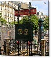 Paris Metro 3 Acrylic Print