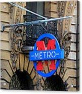 Paris Metro 5 Acrylic Print