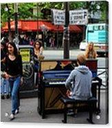 Paris Musicians 2 Acrylic Print