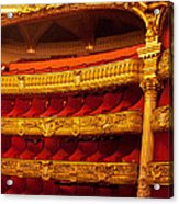 Paris Opera House Iv   Box Seats Acrylic Print