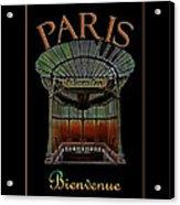 Paris Poster Art 1 Acrylic Print
