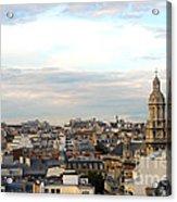 Paris Rooftops Acrylic Print by Elena Elisseeva