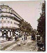 Paris: Street Scene, 1890 Acrylic Print