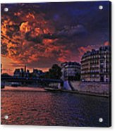 Paris Sundown Acrylic Print