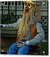 Park Bench Ghoul Acrylic Print