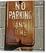 Park Here Acrylic Print by Luke Moore