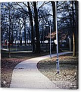 Park Path At Dusk Acrylic Print