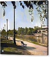 Park San Martin Mendoza Argentina Acrylic Print