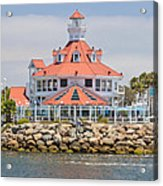 Parker's Lighthouse Shoreline Village Acrylic Print